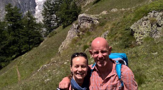 Christine und Herr Jörg im Aostatal