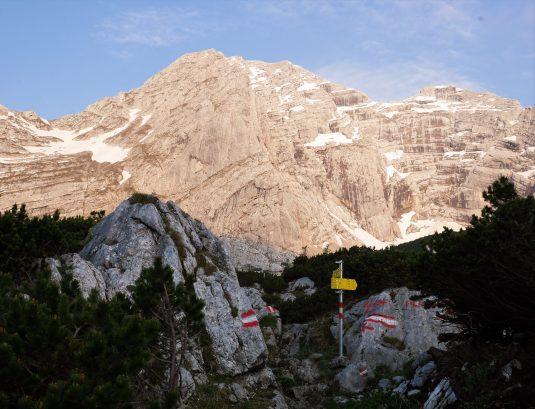 Das Hochtor ist der höchste Berg im Gesäuse. Knapp 2.400 Meter hoch