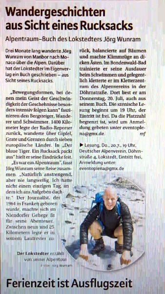 Erschienen im Niendorfer Wochenblatt 19.7.2017